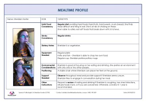 Mealtime profile